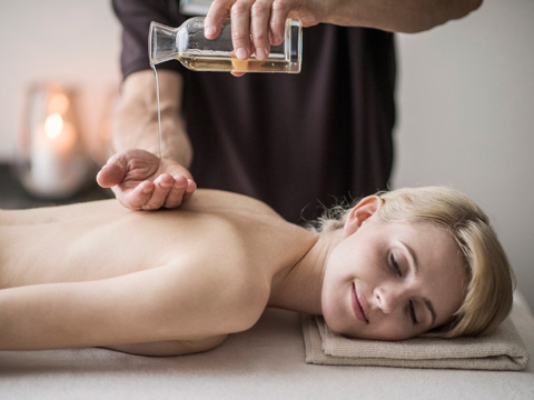 Aromatic oil massage